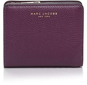 Marc Jacobs Gotham Compact Mini Leather Wallet - BLACK/SILVER - STYLE