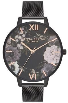 Olivia Burton Women's After Dark Mesh Strap Watch, 38Mm