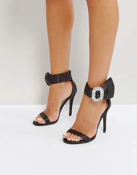 Qupid Embellished Barely There Heel Sandal