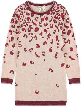 Scotch & Soda Leopard wool blend sweater dress