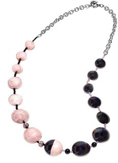Antica Murrina Veneziana Women's Black/pink Other Materials Necklace.