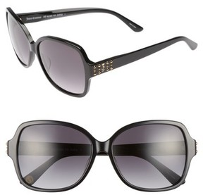 Juicy Couture Women's Black Label 57Mm Square Sunglasses - Black