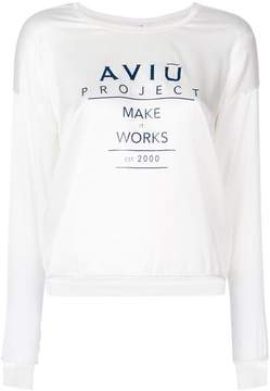 Aviu satin logo sweatshirt