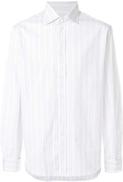 Canali striped fitted shirt