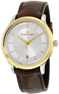 Maurice Lacroix Les Classiques Quartz Date Silver Dial Brown Leather Men's Quartz Watch