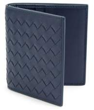Bottega Veneta Woven Denim Leather Bifold Wallet