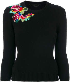 Ermanno Scervino embroidered detail jumper