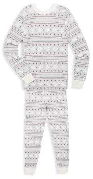 Petit Lem Girl's Two-Piece Snowflakes Top and Pants Set