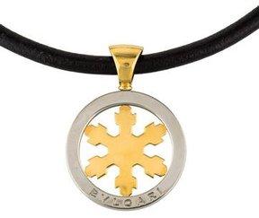 Bvlgari Two-Tone Tondo Snowflake Pendant Necklace