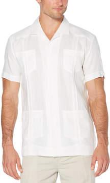 Cubavera Slim Fit 100% Linen Short Sleeve 4 Pocket Guayabera