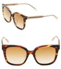 Bottega Veneta 52MM Tortoise Square Sunglasses