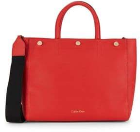 Calvin Klein Unlined PVC Leather Tote Bag