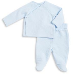 Absorba Baby Boy's Two-Piece Quilted Top and Pants Set