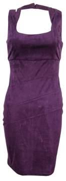 GUESS Los Angeles Women's Faux-Suede Sheath Dress