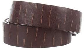 Brunello Cucinelli Distressed Leather Belt