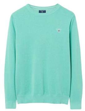 Gant Men's Green Cotton Sweater.