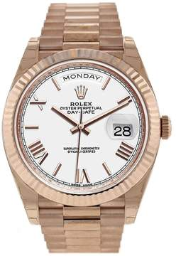 Rolex Day- Date White Dial Automatic Men's 18kt Everose Gold President Watch