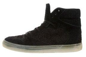 Balenciaga Textured Suede Sneakers