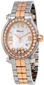 Chopard Happy Sport Oval Diamond 18 kt Rose Gold and Stainless Steel Ladies Watch