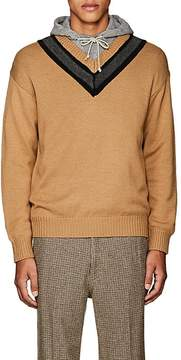 TOMORROWLAND Men's Striped-Neck Wool-Cashmere Sweater