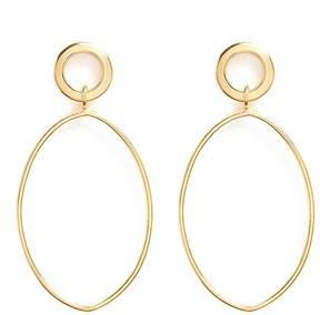 Philippe Audibert Oval ring drop earrings