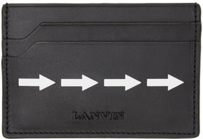 Lanvin Black Arrow Card Holder