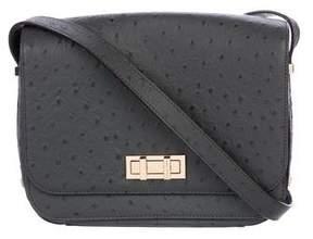 Henri Bendel Embossed Leather Flap Shoulder Bag