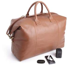 Royce Leather Royce Expandable Duffle Bag Luxury Travel Set - Tan