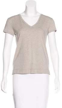 White + Warren Jersey Short Sleeve Top