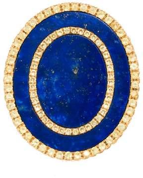 Frederic Sage 18k Yg Double Oval Lapis and Yellow Sapphire Tivoli Ii Ring