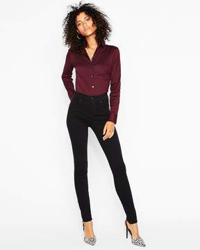 Express Fitted Long Sleeve Essential Shirt Bodysuit