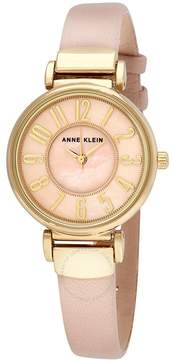 Anne Klein Mother of Pearl Dial Pink Leather Ladies Watch