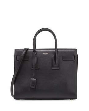 Saint Laurent Sac de Jour Small Leather Satchel Bag, Black