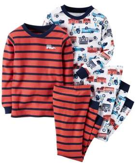 Carter's Baby Clothing Outfit Boys 4-Piece Snug Fit Cotton PJs Firetrucks