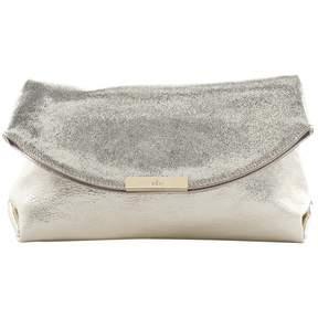 Hogan Gold Leather Clutch Bag