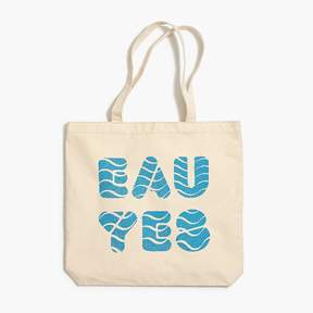 J.Crew X charity: water Eau yes canvas tote bag