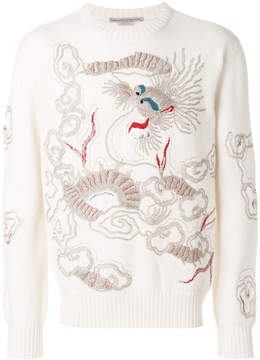Ermanno Scervino dragon embroidered sweater