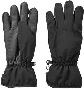 Joe Fresh Women's Fleece Lined Winter Gloves, Black (Size S/M)