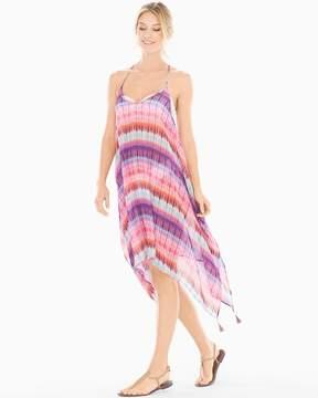 Bleu Rod Beattie Dream Weavers Handkerchief Hem Coverup Dress