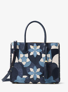 Michael Kors Mercer Large Floral Patchwork Leather Tote - BLUE - STYLE