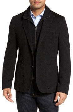 Kroon Men's Jones Aim Hybrid Classic Fit Knit Wool Blend Blazer