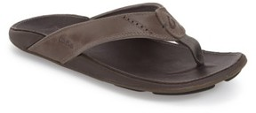 OluKai Men's 'Nui' Leather Flip Flop