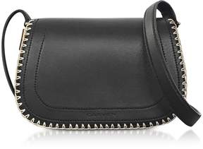 Carven Mazarine Black Leather Crossbody Bag