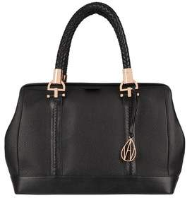 Amanda Wakeley Black Leather Suede Portman Bag