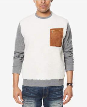 Sean John Men's Colorblocked Mixed-Media Sweatshirt, Created for Macy's