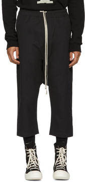 Rick Owens Black Water-Repellent Drawstring Lounge Pants