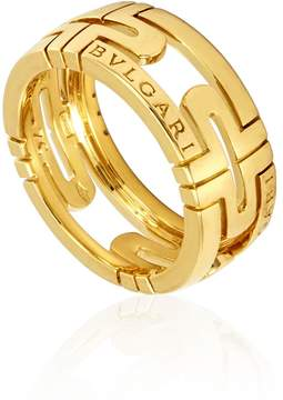 Bvlgari Parentesi 18K Yellow Gold Ring- Size 54 (US 7)