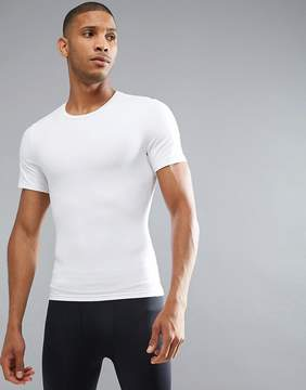 Spanx Performance T-Shirt Zoned Hard Core in White