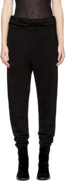 Ann Demeulemeester Black Wide Cuff Lounge Pants