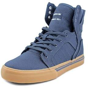 Supra Skytop Youth Round Toe Canvas Blue Sneakers.